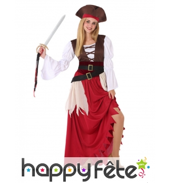 Robe de pirate pour adolescente