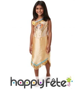 Robe de Pocahontas à sequin pour enfant