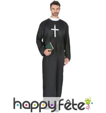 Robe de prêtre grande taille pour adulte
