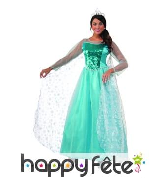 Robe de princesse bleue pour adulte