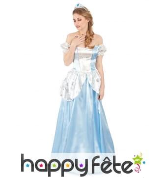 Robe de princesse bleue pour femme adulte