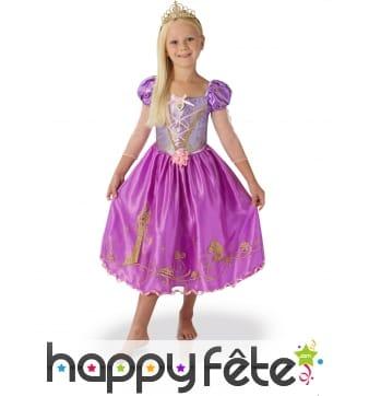 Robe de Princesse Raiponce avec tiare pour enfant