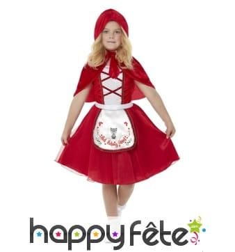 Robe du petit chaperon rouge avec capuche, fille