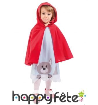 Robe du petit chaperon rouge pour bébé avec cape