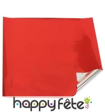rouleau de papier cadeau rouge avec face argent. Black Bedroom Furniture Sets. Home Design Ideas