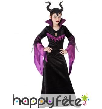 Robe de reine maléfique pour enfant