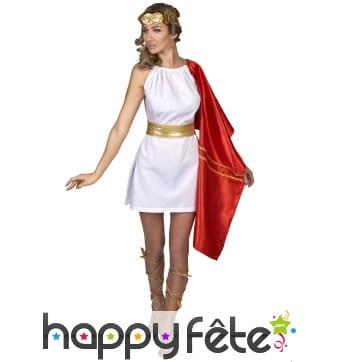 Robe de romaine blanche étole rouge