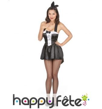Robe de serveuse bunny noire et blanche