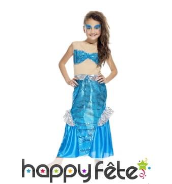 Robe de sirène bleue pour enfant