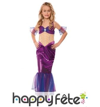 Robe de sirène violette pour enfant