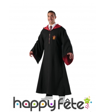 Robe de sorcier Gryffondor pour adulte, deluxe