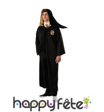 Robe de sorcier Poufsouffle pour adulte