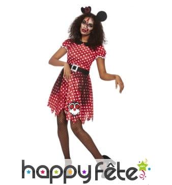 Robe de souris zombie pour femme