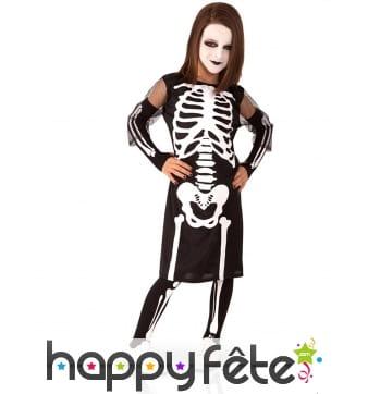 Robe de squelette pour petite fille