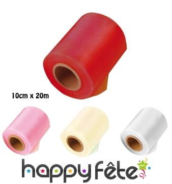 Ruban de tulle en polyester de 10cm x 20m