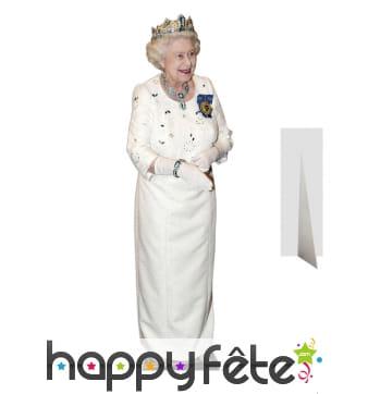 Reine Elizabeth 2 couronnée taille réelle