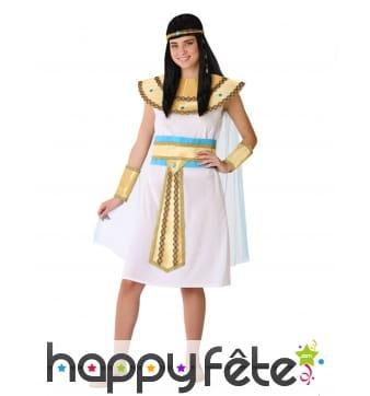 Robe Egyptienne blanche pour ado