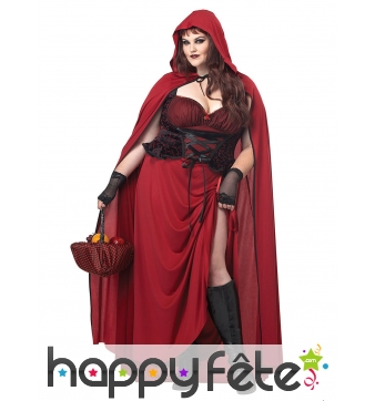 Robe échancrée du petit chaperon rouge pour femme