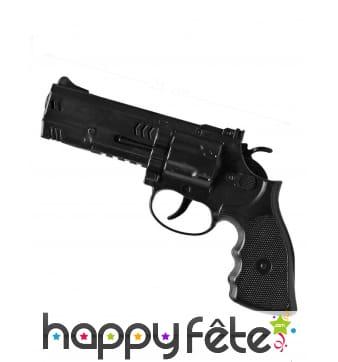 Revolver en plastique noir de 21 cm