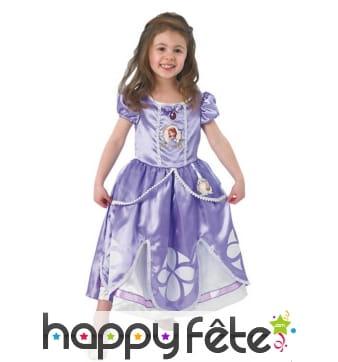 Robe et tiare Princesse Sofia pour enfant, luxe