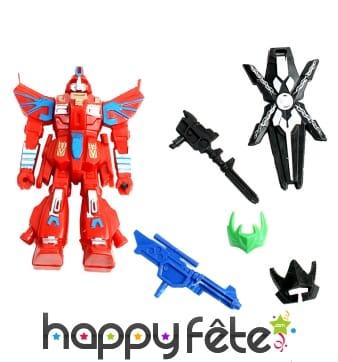 Robot figurine avec accessoires