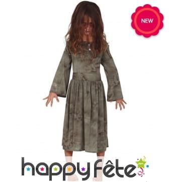 Robe fantôme gris pour enfant