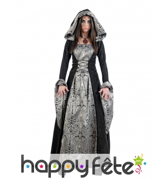 Avec Robe Gothique Brocards Luxe Argentés Femme De CdBWroQxEe