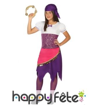 Robe gypsy et bandana pour enfant