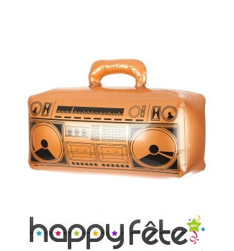 Radio gonflable old school couleur or