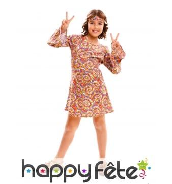 Robe hippie motifs tie and dye pour enfant