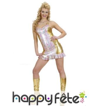 Robe holographique pour femme