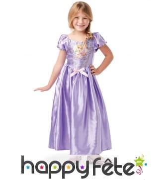 Robe longue de la princesse Raiponce pour fille