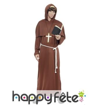Robe marron de moine pour adulte