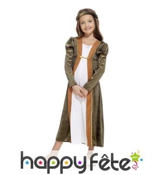 Robé médiévale effet velours de petite princesse