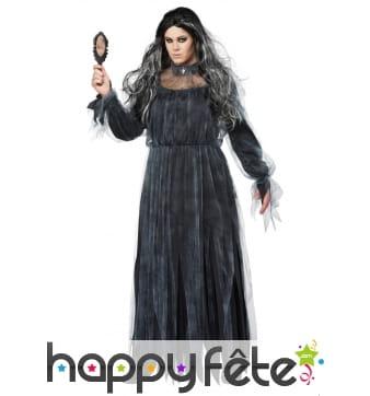 Robe noire de mariée fantôme grande taille