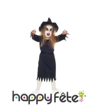 Robe noire de mini sorcière