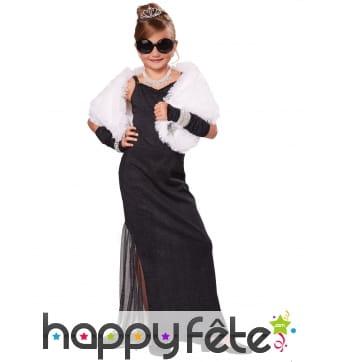 Robe noire de Starlette pour enfant