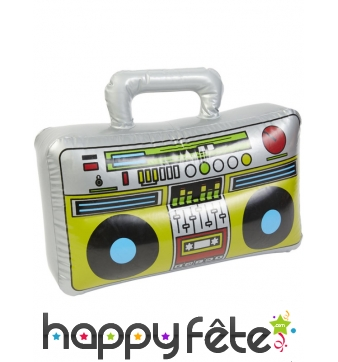 Radio old school gonflable de 38 cm