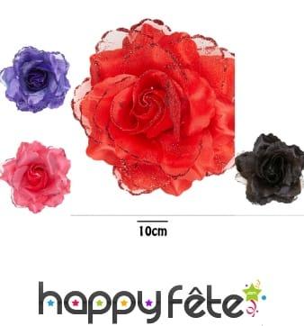 Rose pour cheveux de 10cm