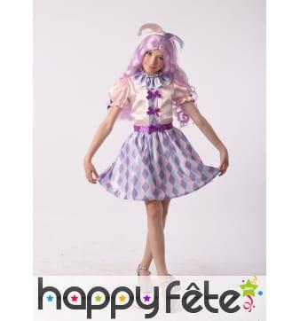 Robe pastelle d'arlequine pour enfant