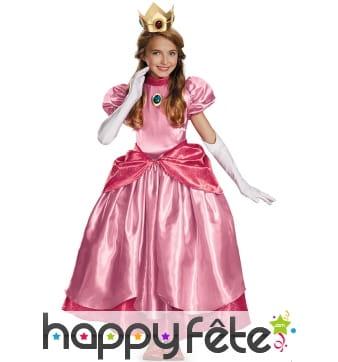 Robe prestige de la Princesse Peach pour fillette