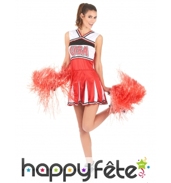 Robe pompom girl USA pour adulte