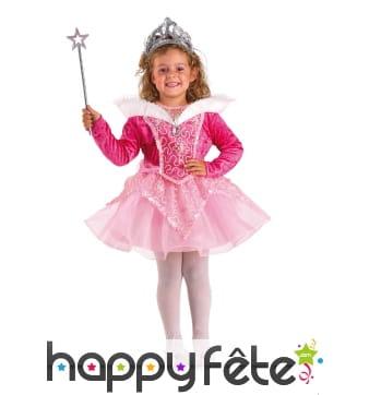 Robe rose avec tutu de petite princesse