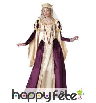 Robe renaissance de princesse, haut de gamme