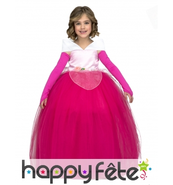 Robe rose de bal pour petite princesse