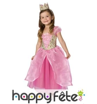 Robe rose de petite princesse pour enfant
