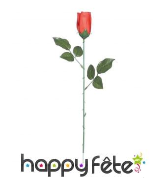 Rose rouge de 44cm, en plastique