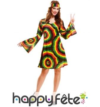 Robe rasta et bandeau aux couleurs de la Jamaique