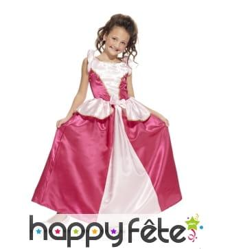 Robe rose et blanche de petite princesse