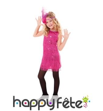 Robe rose style Charleston pour enfant